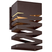 Signature LED 9 inch Alder Bronze Outdoor Wall Sconce