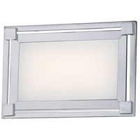 George Kovacs P1161-077-L Framed LED 9 inch Chrome Bath Light Wall Light