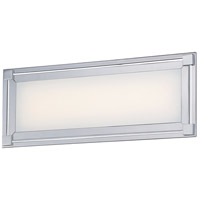 George Kovacs P1162-077-L Framed LED 16 inch Chrome Bath Light Wall Light
