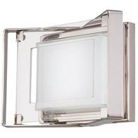 George Kovacs P1181-613-L Crystal Clear LED 10 inch Polished Nickel Bath Light Wall Light