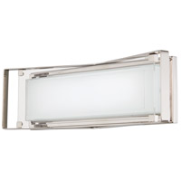 Crystal Clear LED 22 inch Polished Nickel Bath Bar Wall Light