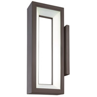 George Kovacs P1201-615C-L Skylight LED 16 inch Textured Dorian Bronze Outdoor Wall Sconce