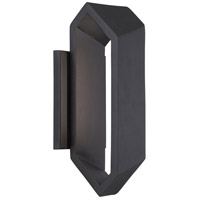 Pitch LED 12 inch Black Outdoor Wall Sconce
