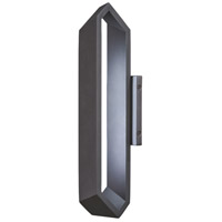 Pitch LED 19 inch Black Outdoor Wall Sconce