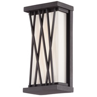 George Kovacs P1208-615C-L Hedge LED 10 inch Textured Dorian Bronze Outdoor Pocket Lantern