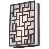 George Kovacs P1221-287-L Alecia's Necklace LED 9 inch Sand Bronze Outdoor Wall Sconce