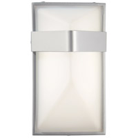 Wedge LED 9 inch Silver Dust Outdoor Pocket Lantern in Etched White