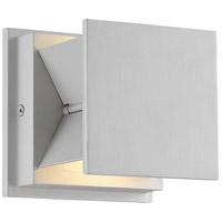 George Kovacs P1243-566-L Baff LED 5 inch Silver Dust Outdoor Wall Mount