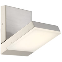 Angle LED 6 inch Brushed Nickel Bath Bar Wall Light