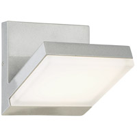 Angle LED 6 inch Silver Dust Outdoor Wall Sconce