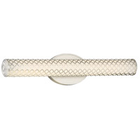 Dots LED 25 inch Brushed Nickel Bath Bar Wall Light