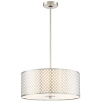 George Kovacs P1266-084 Dots 3 Light 18 inch Brushed Nickel Pendant Ceiling Light