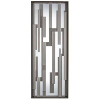 Bars LED 17 inch Bronze with Silver Outdoor Pocket Lantern