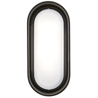 Floating Oval LED 11 inch Pebble Bronze Outdoor Wall Sconce