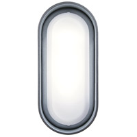 Floating Oval LED 11 inch Sand Silver Outdoor Bracket