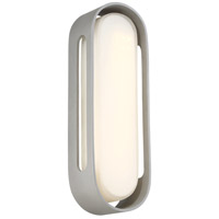 Floating Oval LED 15 inch Sand Silver Outdoor Wall Sconce