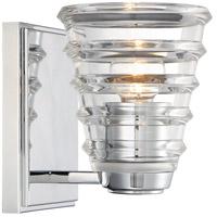 George Kovacs P1291-077 Arctic 1 Light 11 inch Chrome Bath Bar Wall Light