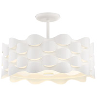 George Kovacs P1302-655-L Coastal Current 1 Light 18 inch Sand White Semi-Flush Mount Ceiling Light