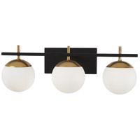 George Kovacs P1353-618 Alluria 3 Light 24 inch Weathered Black with Autumn Gold Bath-Bar Lite Wall Light