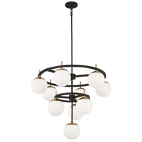 Alluria 10 Light 30 inch Weathered Black with Autumn Gold Chandelier Ceiling Light