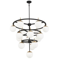 Alluria 16 Light 36 inch Weathered Black with Autumn Gold Chandelier Ceiling Light