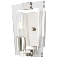 George Kovacs P1371-613 Crystal Chrome 1 Light 8 inch Polished Nickel Bath Bar Wall Light