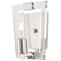 George Kovacs P1371-613 Crystal Chrome 1 Light 8 inch Polished Nickel Bath Bar Wall Light