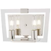 George Kovacs P1372-613 Crystal Chrome 2 Light 13 inch Polished Nickel Bath Bar Wall Light