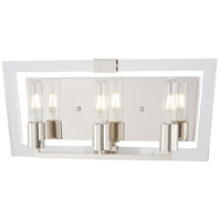 George Kovacs P1373-613 Crystal Chrome 3 Light 19 inch Polished Nickel Bath Bar Wall Light