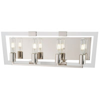 George Kovacs P1374-613 Crystal Chrome 4 Light 25 inch Polished Nickel Bath Bar Wall Light