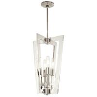 George Kovacs P1375-613 Crystal Chrome 4 Light 13 inch Polished Nickel Pendant Ceiling Light