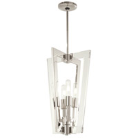 George Kovacs P1375-613 Crystal Chrome 4 Light 13 inch Polished Nickel Pendant Ceiling Light