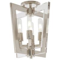 George Kovacs P1379-613 Crystal Chrome 4 Light 14 inch Polished Nickel Flush Mount Ceiling Light