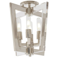 George Kovacs P1379-613 Crystal Chrome 4 Light 14 inch Polished Nickel Flush Mount Ceiling Light