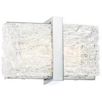 George Kovacs P1381-077-L Forest Ice II LED 11 inch Chrome Bath Light Wall Light