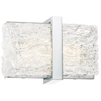 George Kovacs P1381-077-L Forest Ice II LED 11 inch Chrome Bath Light Wall Light
