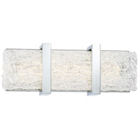 George Kovacs P1382-077-L Forest Ice II LED 15 inch Chrome Bath Light Wall Light