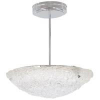 George Kovacs P1388-077-L Forest Ice LED 20 inch Chrome Pendant Ceiling Light Convertible To Semi Flush