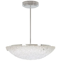 George Kovacs P1389-077-L Forest Ice LED 24 inch Chrome Pendant Ceiling Light Convertible To Semi Flush