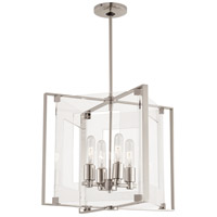 George Kovacs P1404-613 Crystal Clear 4 Light 15 inch Polished Nickel Pendant Ceiling Light