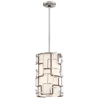 George Kovacs P1420-674-L Alecias Tiers LED 10 inch Brushed Nickel and Bronze Patina Pendant Ceiling Light