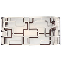 George Kovacs P1421-674-L Alecias Tiers LED 12 inch Brushed Nickel and Bronze Patina Bath Bar Wall Light