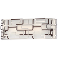 George Kovacs P1422-674-L Alecias Tiers LED 16 inch Brushed Nickel and Bronze Patina Bath Bar Wall Light