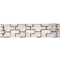 George Kovacs P1423-674-L Alecias Tiers LED 25 inch Brushed Nickel and Bronze Patina Bath Bar Wall Light