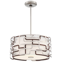 George Kovacs P1425-674-L Alecias Tiers LED 15 inch Brushed Nickel and Bronze Patina Pendant Ceiling Light