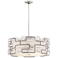 George Kovacs P1426-674-L Alecias Tiers LED 20 inch Brushed Nickel and Bronze Patina Pendant Ceiling Light