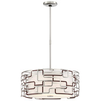 George Kovacs P1427-674-L Alecias Tiers LED 25 inch Brushed Nickel and Bronze Patina Pendant Ceiling Light