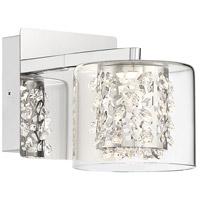 George Kovacs P1471-077-L Wild Gems LED 5 inch Chrome Bath-Bar Lite Wall Light