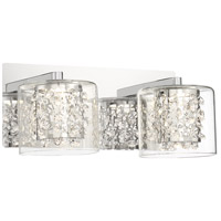 George Kovacs P1472-077-L Wild Gems LED 13 inch Chrome Bath Light Wall Light