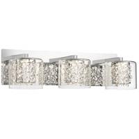 George Kovacs P1473-077-L Wild Gems LED 21 inch Chrome Bath-Bar Lite Wall Light